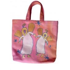 Barnväska - två änglar, aprikos