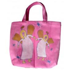 Barnväska - två änglar, rosa