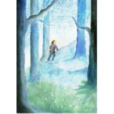 Vykort - A01- Blå skog