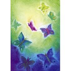 Vykort - BeD1010 - Fjärilar