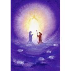 Vykort - BeK1003 - Josef o Maria i stjärnljus