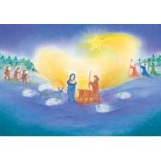 Vykort - BeK1008 - Maria, Josef, herdar o Vise Män