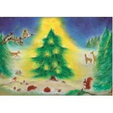 Vykort - BeK1009 - Jul i skogen