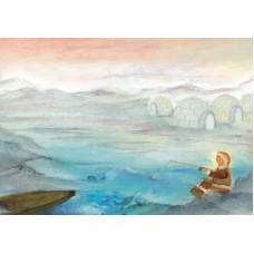 Vykort - BeTh1002 - Fiskande eskimå