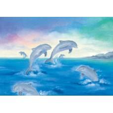 Vykort - BeW1003 - Delfiner