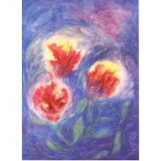 Vykort - E470 - Röda blommor