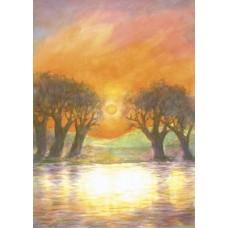 Vykort - M454 - Solnedgång