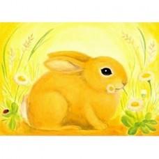 Vykort - M584 - April - Liten hare