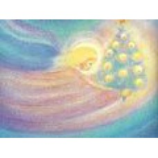 Vykort - M715 - Ängel med julgran
