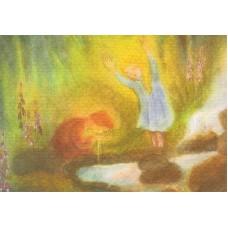 Vykort - M756 - Lilla Syster vid källan