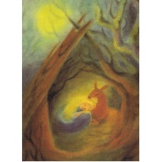 Vykort - M757 - Lilla Syster med rådjur