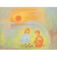 Vykort - M804 - April - Barn med påskägg