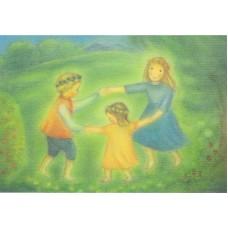 Vykort - M806 - Juni - Dansande barn