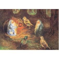 Vykort - M842 - Pysslingar m fåglar