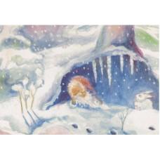 Vykort - M843 - Pyssling om vintern