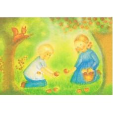 Vykort - M959 - Barn plockar äpplen