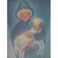 Vykort - M967 - Herdepojke med lamm