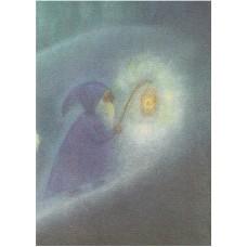 Vykort - M968 - Pyssling med lanterna