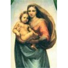 Vykort - R0110 - Sixtinska Madonnan, närbild