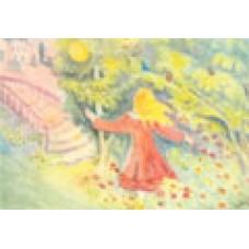 Vykort - R0819 - Grodprinsen - Flicka med guldboll