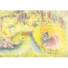 Vykort - R0821- Grodprinsen med guldboll