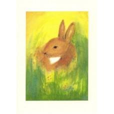Vykort - R2892 - Hare i gräset