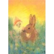 Vykort - R3023 - Pyssling med hare