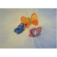 Vykort - R3061 - Fjärilar
