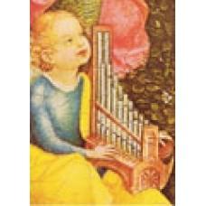 Vykort - R3563 - Ängel med orgel