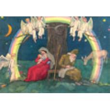 Vykort - R3578 - Maria o Josef under regnbågen