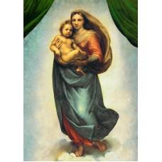 Vykort - R0109b - Sixtinska Madonnan, helbild