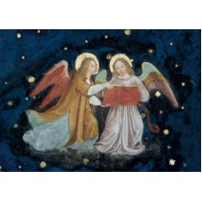 Vykort - R3691 - Två musicerande änglar