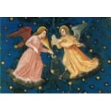 Vykort - R3692 - Två musicerande änglar