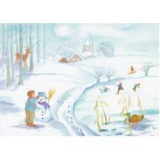Vykort - R3716 - Vinter
