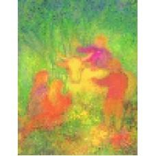 Vykort - R3977 - Vår lilla ko