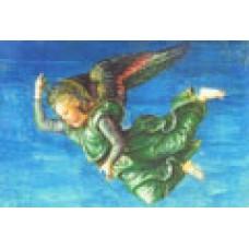 Vykort - R5013 - Ängel, grön