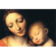 Vykort - R5037 - Maria med sovande barn