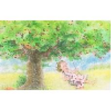 Vykort - R5066 - Gunga i körsbärsträdet