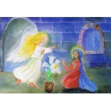Vykort - R5078 - Ängel hos Maria