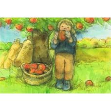 Vykort - R5209 - Plocka äpplen - September