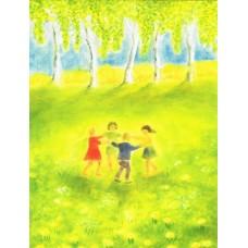 Vykort - R5243 - Dansande barn
