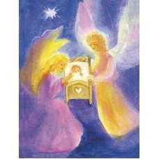 Vykort - R5424 - Skyddande änglar