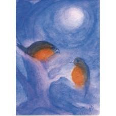 Vykort - R5425 - Kvittrande fåglar