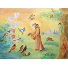 Vykort - R5429 - Fransiskus predikar för fåglarna