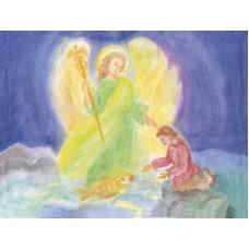 Vykort - R5433 - Tobias och ängeln