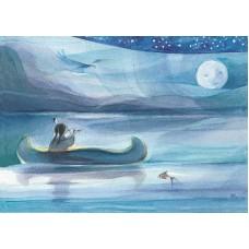 Vykort - Vr074 - Indian i kanot