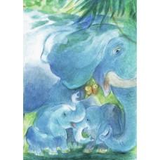 Vykort - Vr53 - Elefanter