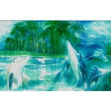Vykort - W1010 - Delfiner