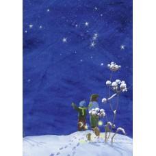 Vykort - W3018 - Vinterhimmel