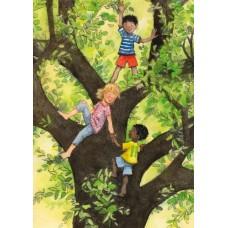 Vykort - W6011 - Barn i klätterträd